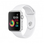 Apple Watch S1, 38mm, Silver AC/White Sport Band, MNNG2CN/A