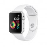 Apple Watch S1, 42mm, Silver AC/White Sport Band, MNNL2CN/A