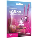 T-Mobile Czech Republic A.s. T-Mobile SIM Twist S námi, 4GB, 700618