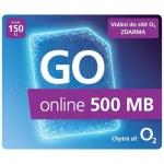 O2 Předplacený mobilní internet GO online 500MB, SMALLGO.150VON40