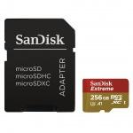 SanDisk Extreme microSDXC 256GB 100MB/s + adaptér, SDSQXAO-256G-GN6MA