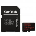 SanDisk Extreme microSDXC 128GB 100MB/s + adaptér, SDSQXAF-128G-GN6AA
