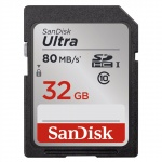 + SanDisk Ultra SDHC 32GB 80MB/s Class10 UHS-I, 139767