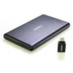 """EVOLVEO 2.5"""" Tiny 2, 10Gb/s, externí rámeček na HDD, USB A 3.1 + redukce USB A/USB C, TINY2"""