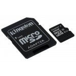 32GB microSDHC Kingston CL10 UHS-I 80R + SD adap., SDCS/32GB
