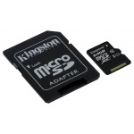 64GB microSDXC Kingston CL10 UHS-I 80R + SD adap., SDCS/64GB