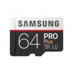 Samsung micro SDXC 64GB PRO Plus + SD adaptér, MB-MD64GA/EU