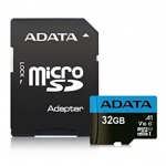 ADATA MicroSDHC 32GB UHS-I 100/25MB/s + adapter, AUSDH32GUICL10A1-RA1