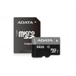 ADATA 64GB MicroSDXC Card+USB micro readerClass 10, AUSDX64GUICL10-RM3BKBL