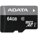 ADATA 64GB MicroSDXC Premier,class10 with Adapter, AUSDX64GUICL10-RA1