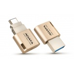 32GB ADATA UC350 USB 3.1 typ C zlatá 100/30MBs, AUC350-32G-CGD