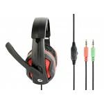 Gembird Gaming headset, černá/červená, GHS-03