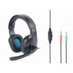 Gembird Gaming headset, černá, GHS-04