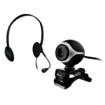 webcam+náhlavní sada TRUST Exis Chatpack, 17028