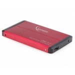 "GEMBIRD externí box pro 2,5"" disk, USB3.0, red, EE2-U3S-2-R"