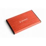 GEMBIRD externí box na 2.5' HDD, USB 3.0, červený, EE2-U3S-3-R