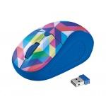 myš TRUST Primo Wireless Mouse - blue geometry, 21480