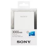 Sony Powerbank CP-E3W2 bílý, 3000 mAH, CP-E3W2