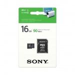 SONY microSD karta 16GB, class10, 90MB/s, adapter, SR16UYA