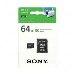 SONY microSD karta 64GB, class10, 90MB/s, adapter, SR64UYA
