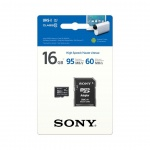 SONY microSD karta 16GB, class10, 95MB/s, adapter, SR16UXA