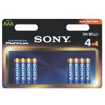SONY Alkalické baterie AM4PT-B4X4D, 8ks LR3/AAA, AM4PT-B4X4D