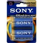 SONY Alkalické baterie AM1PTB2D, 2ks LR20/D, Stamina Platinum, AM1PT-B2D