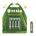 TESLA - baterie AAA RECHARGEABLE+, 4ks, HR03, 1099137119