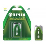 TESLA - baterie 9V RECHARGEABLE+ , 1ks, 6HR61, 1099137130