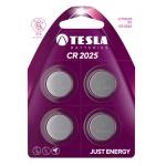 TESLA - baterie TESLA CR2025, 4ks, CR2025, 1099137110
