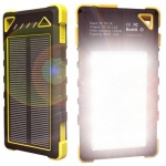 VIKING Solární outdoorová powerbanka Akula I 8000mAh, 20Led, Žlutá, AKU080Y