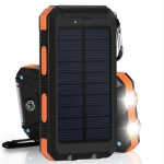 VIKING Solární Outdoorová Powerbanka Delta I 8000mAh, Černo-Oranžová, DEL080BO