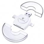 VIKING ČTEČKA PAMĚŤOVÝCH KARET V4 USB3.0 4V1 bílá, VR4V1W