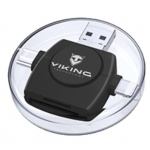 VIKING ČTEČKA PAMĚŤOVÝCH KARET V4 USB3.0 4V1 černá, VR4V1B