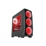 Natec Počítačová skříň Genesis Titan 750 RED MIDI (USB 3.0), NPC-1125