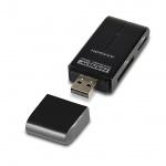 AXAGON CRE-D4B, USB 2.0 externí HANDY čtečka 4-slot SD/MicroSD/MS/M2, černá, CRE-D4B