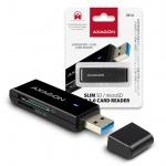 AXAGON CRE-S2, USB 3.0 Type-A - externí SLIM čtečka 2-slot SD/microSD, podpora UHS-I, CRE-S2