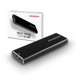 AXAGON EEM2-U3, USB3.0 - M.2 SATA SSD hliníkový box, délka 30 až 80 mm, EEM2-U3