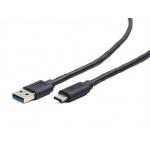 Gembird Kabel CABLEXPERT USB 3.0 AM na Type-C kabel (AM/CM), 1,8m, černý, CCP-USB3-AMCM-6