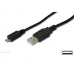 PremiumCord Kabel micro USB, A-B 2m, ku2m2f