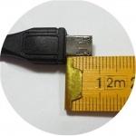 PremiumCord Kabel micro USB 2.0, A-B 1,8m, dlouhý micro USB konektor, ku2m18fd