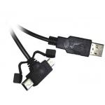 PremiumCord Kabel micro USB+mini USB 5pin, 1.8m, ku2m2y