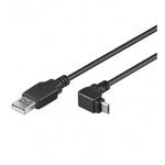 PremiumCord Kabel microi USB 2.0, A-B, 90°, 3m, ku2m3f-90