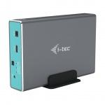 "i-tec MySafe USB-C 3.1 Gen. 2 / USB 3.0, External case for 2x 2,5"" SATA HDD/SSD, RAID 0/1/JBOD, CAMYSAFEDUAL25"