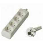 Premiumcord Prodlužovací přívod 230V, 2m, 4 zásuvky, PP4-02