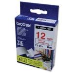 Brother TZE-232,  bílá/červená, 12mm, TZE232