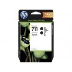 HP no 711 - černá inkoustová kazeta 2-pack, P2V31A, P2V31A