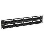 "19"" Patch panel Solarix 48 x RJ45 CAT5E UTP černý, SX48-5E-UTP-BK"