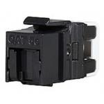 Keystone Solarix CAT5E UTP RJ45 černý pro kleště, SXKJ-5E-UTP-BK-NA