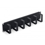 """Triton 19"""" vyvazovací panel 2U 6x háček 70x85mm black kov, RAB-VP-X22-A1"""